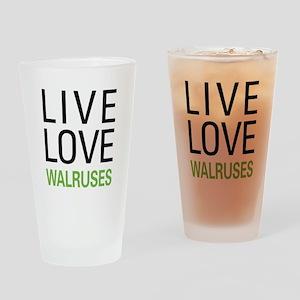 Live Love Walruses Pint Glass