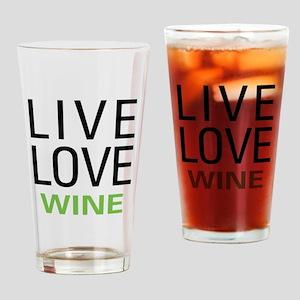Live Love Wine Pint Glass
