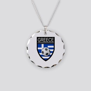 Greece Soccer Patch Necklace Circle Charm