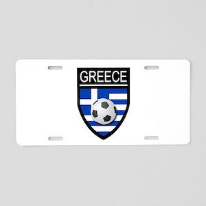 Greece Soccer Patch Aluminum License Plate