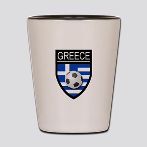 Greece Soccer Patch Shot Glass