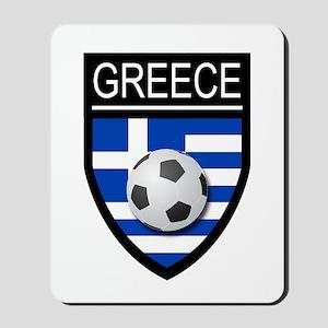 Greece Soccer Patch Mousepad