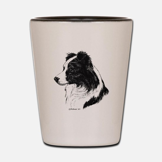 Border Collie Shot Glass