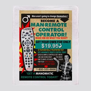 ManOMatic Remote Control Throw Blanket