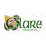 Clare Aluminum License Plate