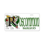Roscommon Aluminum License Plate
