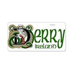 Derry Aluminum License Plate