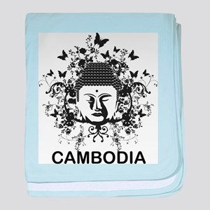 Buddha Cambodia baby blanket