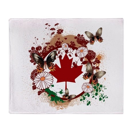 Psychedelic Canada Throw Blanket