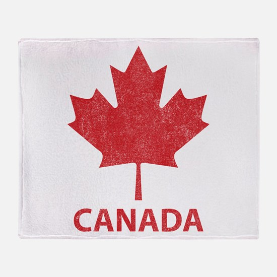 Vintage Canada Throw Blanket