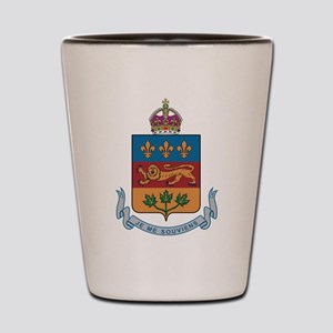 Quebec Coat Of Arms Shot Glass