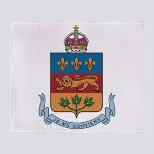 Quebec Coat Of Arms Throw Blanket
