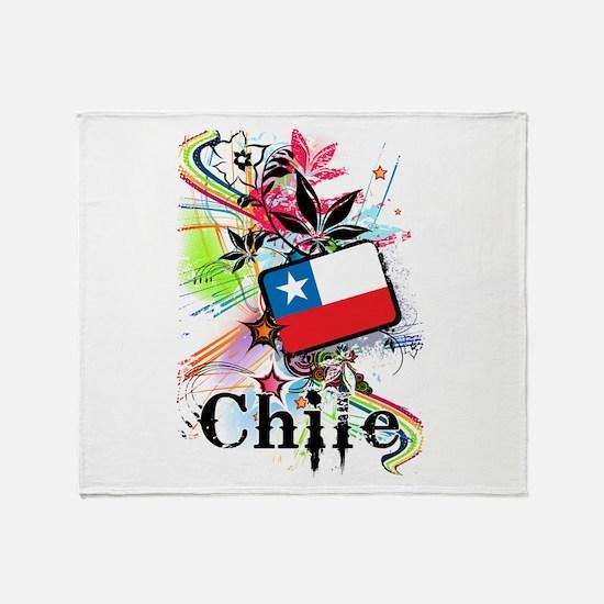 Flower Chile Throw Blanket