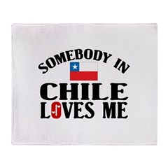 Somebody In Chile Throw Blanket