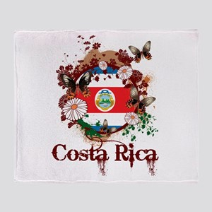Butterfly Costa Rica Throw Blanket