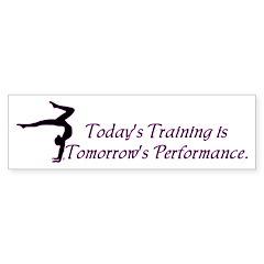 Gymnastics Bumper Sticker - Training