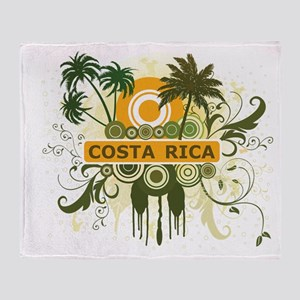 Palm Tree Costa Rica Throw Blanket