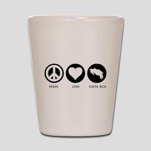 Peace Love Costa Rica Shot Glass