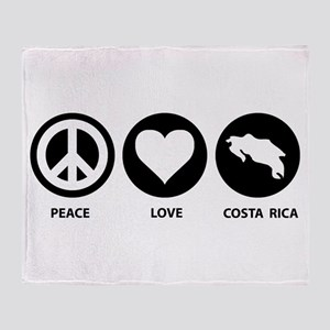Peace Love Costa Rica Throw Blanket