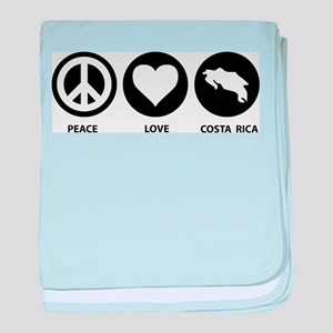 Peace Love Costa Rica baby blanket