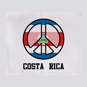 Peace In Costa Rica Throw Blanket