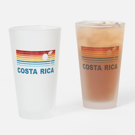 Retro Costa Rica Palm Tree Pint Glass