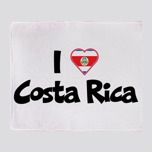 I Love Costa Rica Throw Blanket