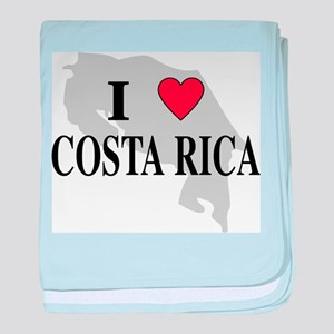 I Love Costa Rica baby blanket
