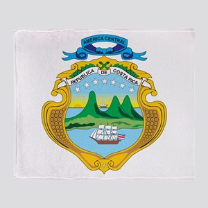 Costa Rica Coat Of Arms Throw Blanket