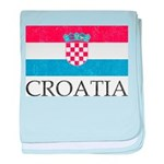 Vintage Croatia baby blanket