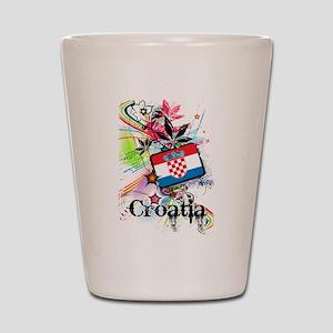 Flower Croatia Shot Glass