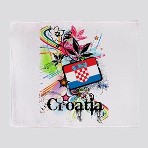 Flower Croatia Throw Blanket