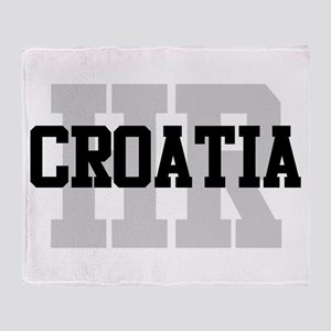 HR Croatia Throw Blanket