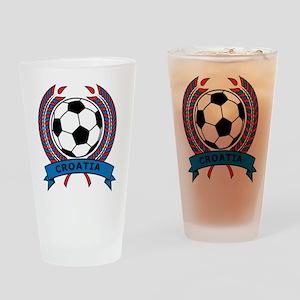 Soccer Croatia Pint Glass