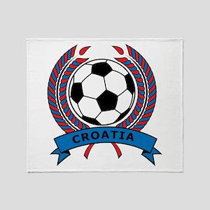 Soccer Croatia Throw Blanket