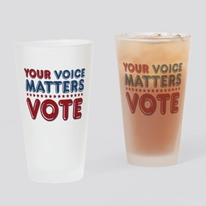 Your Voice Matters Drinking Glass