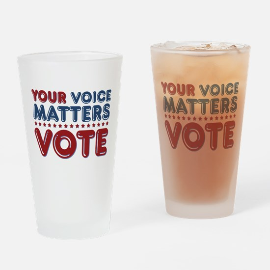 Your Voice Matters Pint Glass