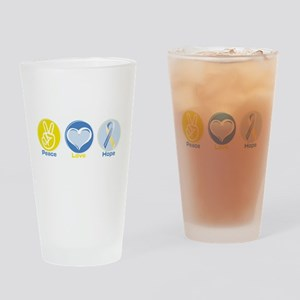 Peace Love DS hope Drinking Glass