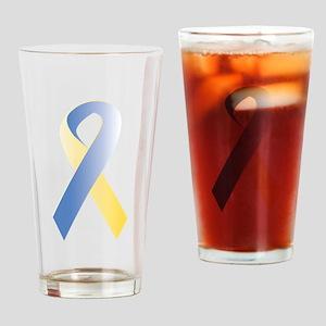 BlueYellow Ribbon Pint Glass