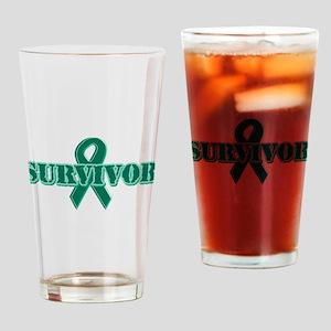 Green Ribbon Survivor Pint Glass