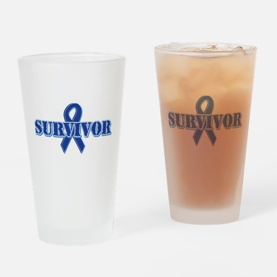 Blue Ribbon Survivor Pint Glass