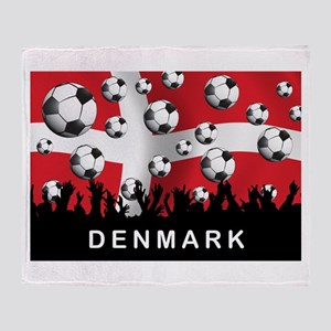Denmark Football Throw Blanket