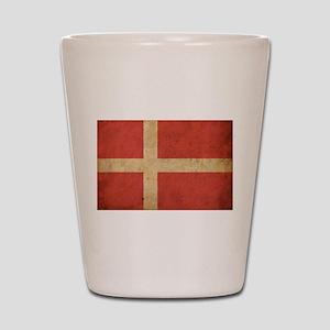 Vintage Denmark Flag Shot Glass