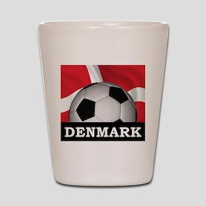 Denmark Football Shot Glass