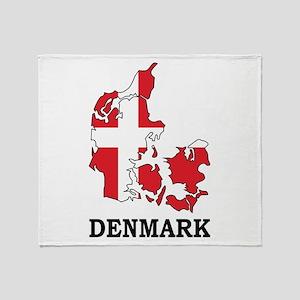 Denmark Map Throw Blanket