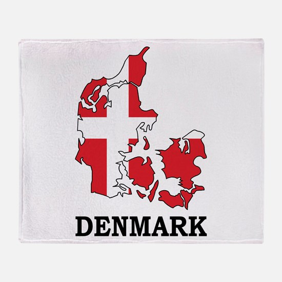 Denmark Map Throw Blanket