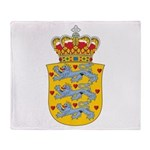 Denmark Coat Of Arms Throw Blanket