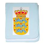 Denmark Coat Of Arms baby blanket
