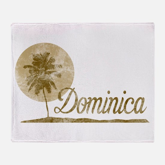 Palm Tree Dominica Throw Blanket
