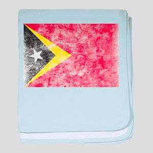 Vintage East Timor Flag baby blanket